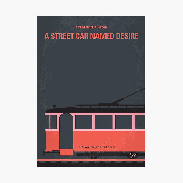 No397- street car named desire minimal movie poster Photographic Print