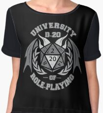 university of role playing Women's Chiffon Top