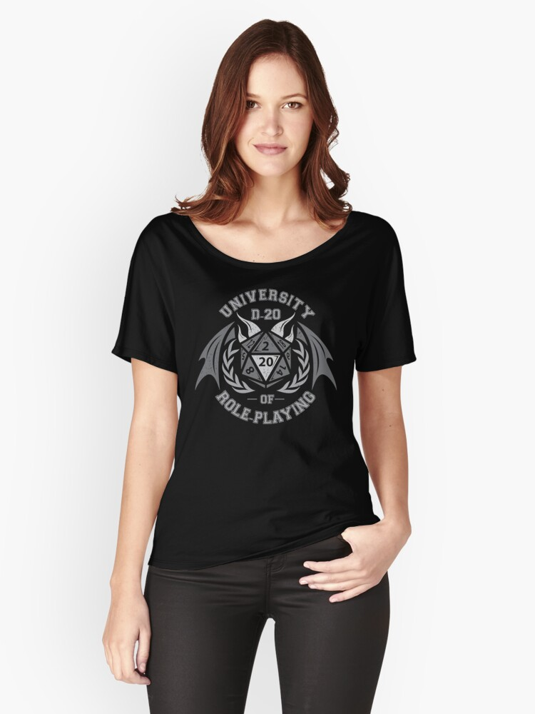 university of role playing Women's Relaxed Fit T-Shirt Front