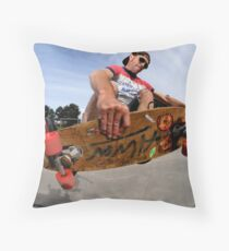 Frontside air on Alva Throw Pillow
