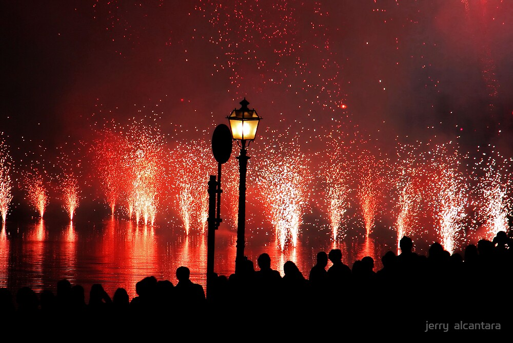 Over the Water Fireworks by jerry  alcantara
