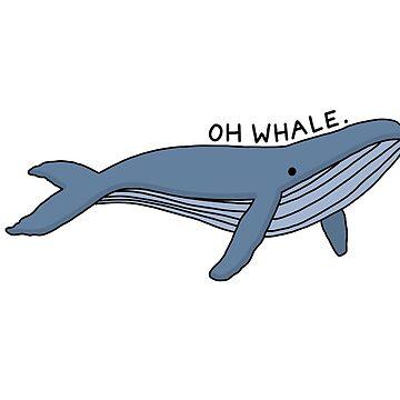 'Oh ballena' Ilustración de ballena 1 de bloemsgallery