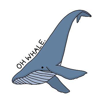 'Oh ballena' Ilustración de ballena 2 de bloemsgallery