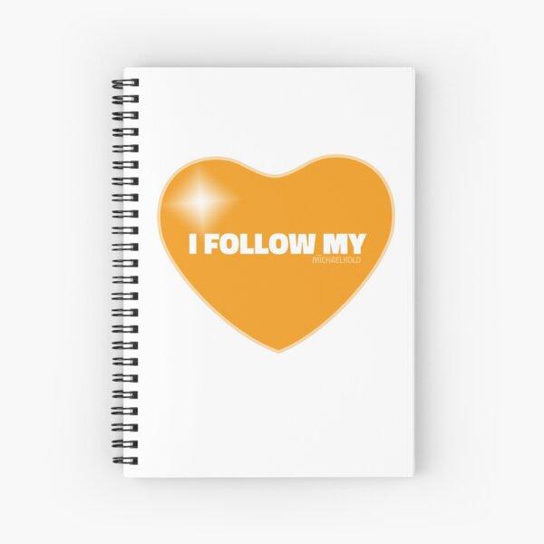 I Follow My ❤ (Orange) Spiral Notebook