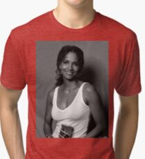 Halle berry black and white Tri-blend T-Shirt