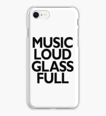music loud glass full iPhone Case/Skin