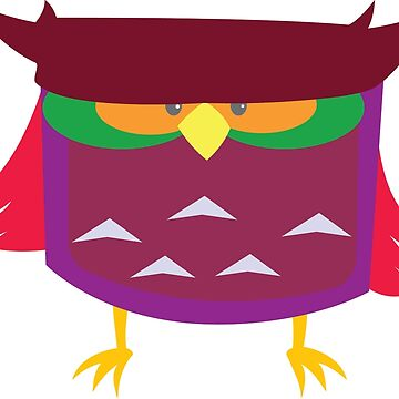 Squat Colorful Owl by tomasquinones
