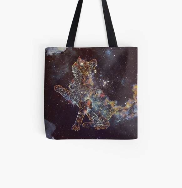 Celestial Cat  All Over Print Tote Bag