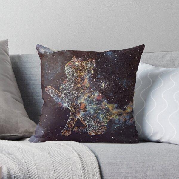 Celestial Cat  Throw Pillow