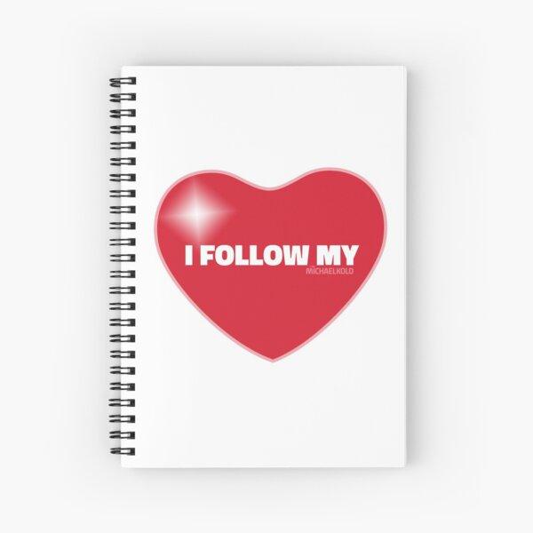I Follow My ❤ (Red) Spiral Notebook