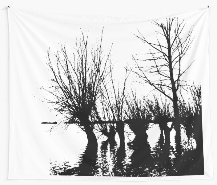 Trees in water by Robert Elfferich