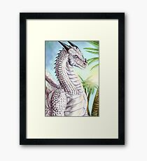 White dragon Framed Print