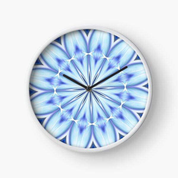 Blue kaleidoscope pattern Clock