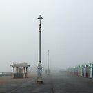 Hove Promenade in Fog by Sue Robinson