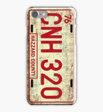 Dukes of Hazzard - General Lee License Plate iPhone Case/Skin