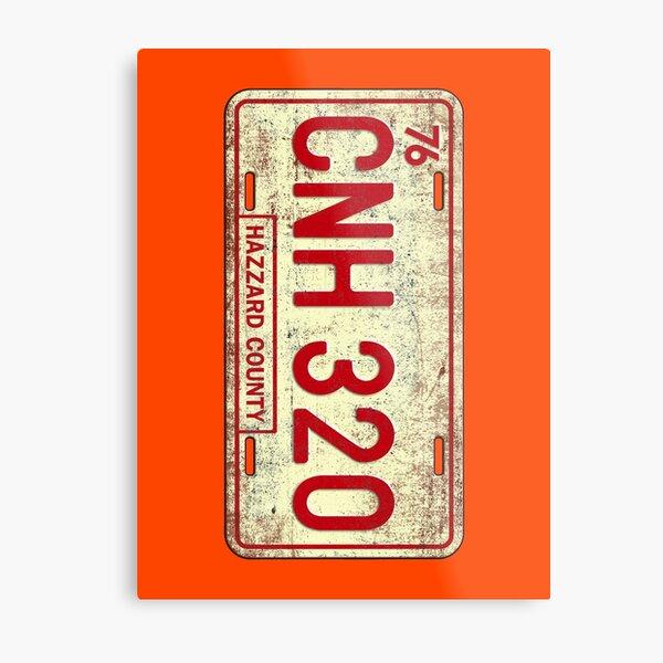 Dukes of Hazzard - General Lee License Plate Metal Print