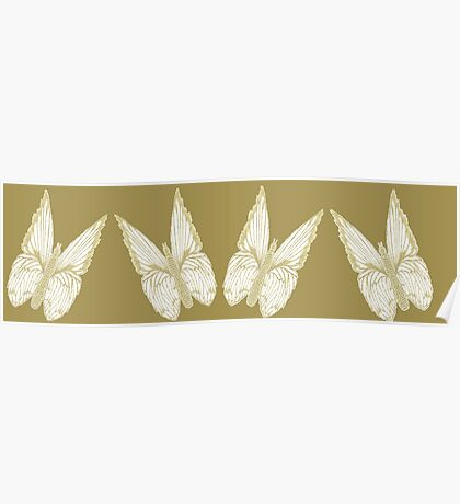 Golden Butterflies see also kazm gilded-butterfly Poster