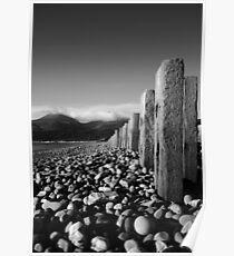 Murlough Beach View Mono Poster