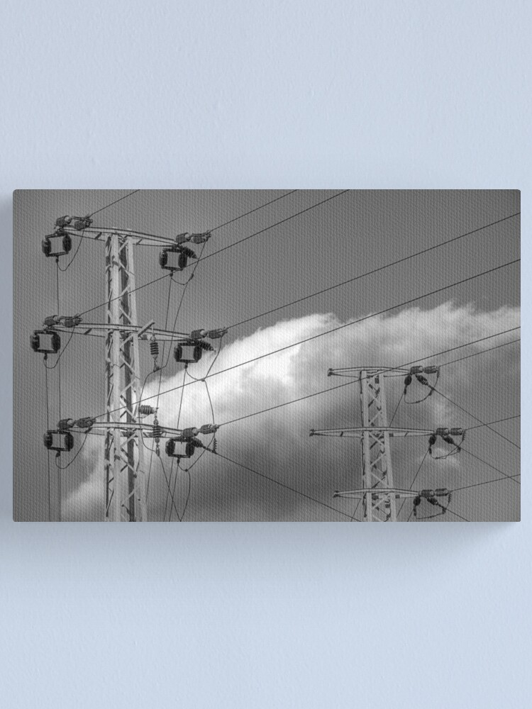 Alternate view of ...then sharp right by the next cloud Canvas Print