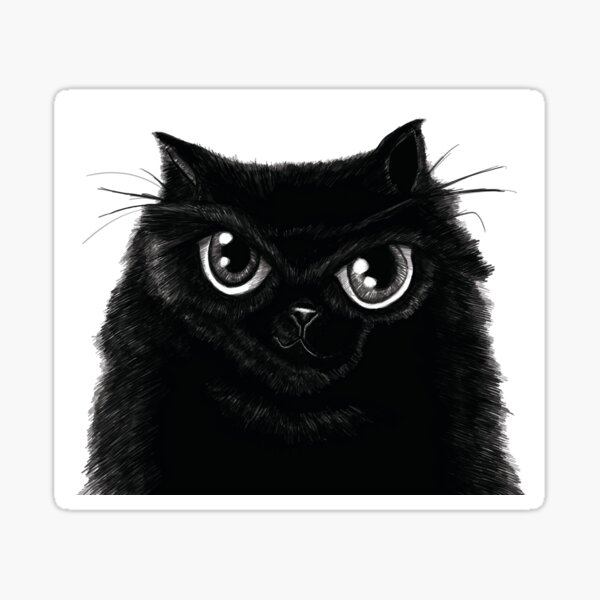 My Fat Black Cat Sticker