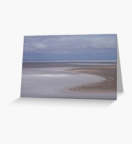 Beaut Beach at Lovely Lake Eyre Greeting Card