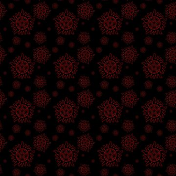 Anti Possession Pattern Red Glow by Falln