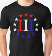 3 Percent Red White and Blue  T-Shirt