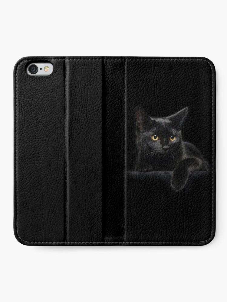 Alternate view of Black Cat iPhone Wallet