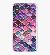 Pink Sparkle Faux Glitter Mermaid Scales iPhone Case/Skin