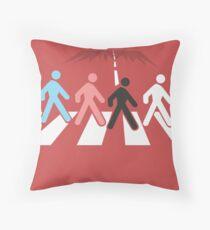 The Pedestrian Beatles Throw Pillow