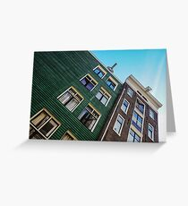 Urban living in Amsterdam Greeting Card