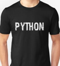 Funny Cool Computer humor 'PYTHON' Design(geeks,math,computers,nerds,science,tech,coding,java,python,c)  Unisex T-Shirt