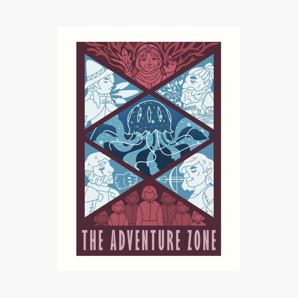 Die Abenteuerzone Kunstdruck