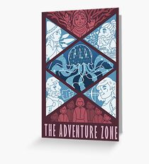 Tarjeta de felicitación La zona de aventura