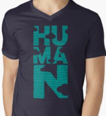HUMAN (marrs green) Men's V-Neck T-Shirt
