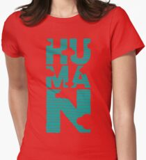 HUMAN (marrs green) Womens Fitted T-Shirt