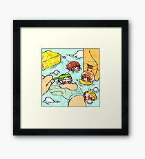 Tinies-Bathing Framed Print