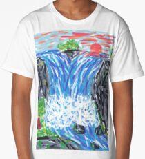 1601 - Waterfall In Canyon Long T-Shirt