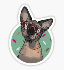 Retro Sphynx Sunglasses Sticker