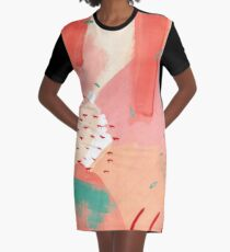 Peachy Abstraction No.2 Graphic T-Shirt Dress
