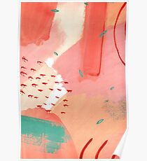Peachy Abstraction No.2 Poster