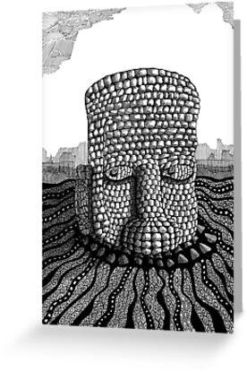 214 - STONE HEAD - INK - 2007 by BLYTHART