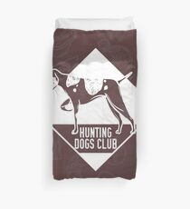 Hunting Dogs Club Patterned Design Duvet Cover