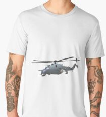 Russian Attack Helicopter Mi-24 Men's Premium T-Shirt