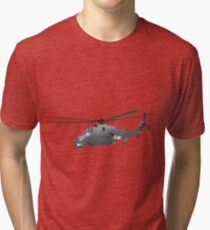 Russian Attack Helicopter Mi-24 Tri-blend T-Shirt