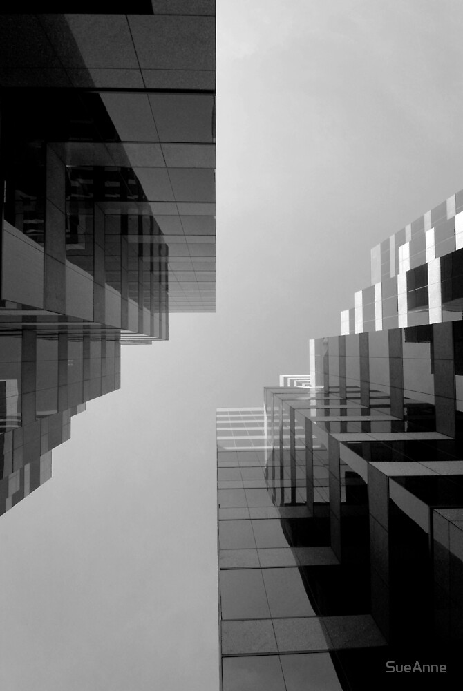 Two Buildings Straight Up by SueAnne