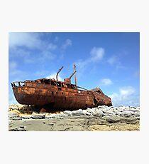 Inisheer Shipwreck Photographic Print