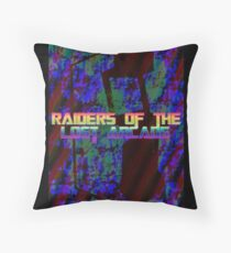Raiders Of The Lost Arcade Throw Pillow