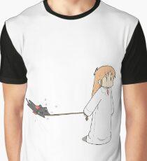 Nichijou- Walking Sakamoto Graphic T-Shirt