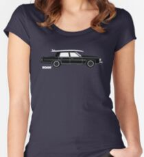 ROAM Rat Caddy Surfer  Women's Fitted Scoop T-Shirt